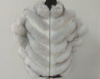 Fur Vest, Fur Jacket, Blue Fox Fur Jacket