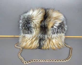 Fox Fur Shoulder Bag