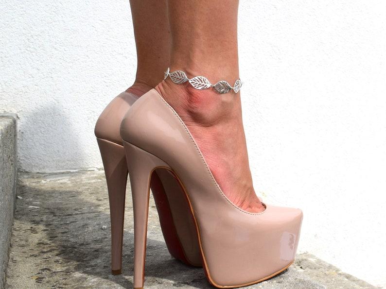 Sideways leaf anklet Delicate leaf anklet three branch anklet petal anklet beach anklet foot jewelry women anklet simple anklet