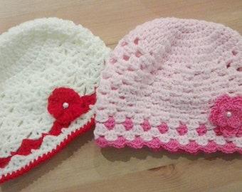 Cappellino neonato rosa  01d0fb410fb6