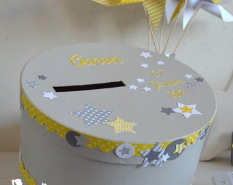 ON order-urn essential gray white yellow stars
