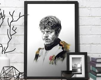Jon Snow Game of Thrones Art Prints Gothic Home Decor Occult Fandom Cubicle Decor