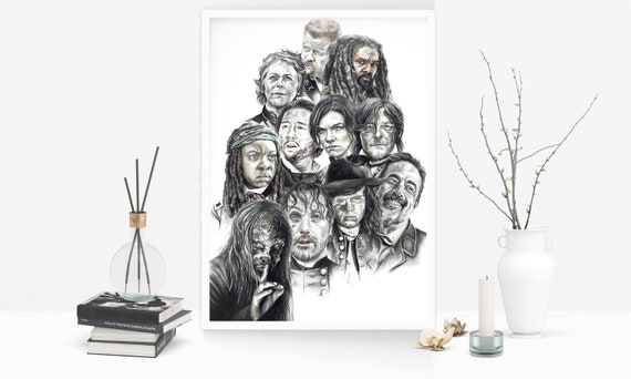 The Walking Dead Poster Set A4 A3 A2 Sets Available