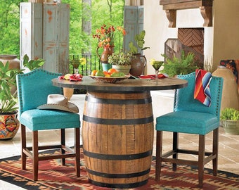 "36"" Whiskey Barrel Table or Wine Barrel Table"