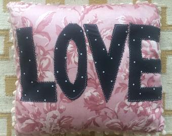 Handmade 'Love' Cushion