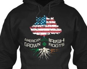 American Grown Irish Roots Hoodie