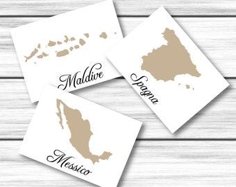 SEGNATAVOLI wedding, map, digital Download, ready for print, wedding, travel theme, Tableau de mariage, placemarks, map