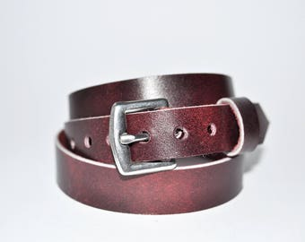 Handmade triple wrap leather bracelet with buckle