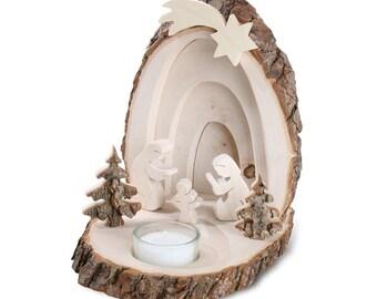 3D Weihnachtskrippe Holz Als Stimmungslicht, Teelichthalter, Weihnachtsdeko,  Kerzenhalter, Holzdeko, Deko Aus Holz, Weihnachtsdekoration