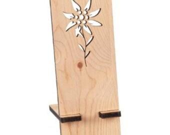 Schmuck Edelweiß Holz handgemacht Trachtenschmuck bayrische Trachtenhut