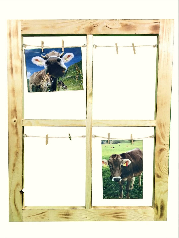 Bilderrahmen Sprossenfenster geflammt / Wanddekoration / | Etsy