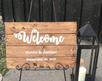 Custom Hand Painted Wood Welcome Sign