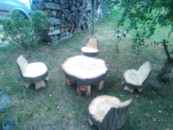 Salon de jardin bois | Etsy