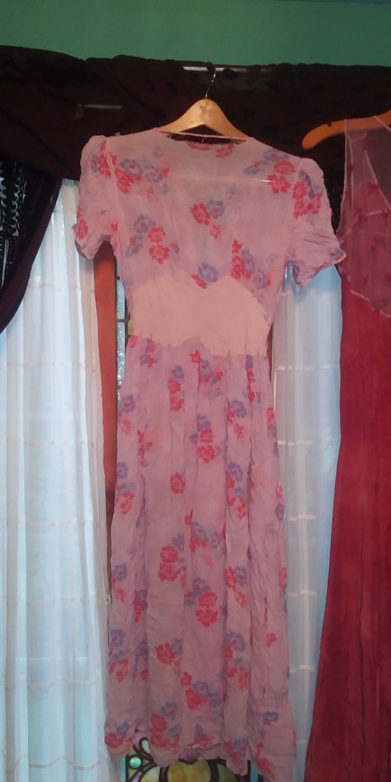 Lot of #3 vintage dresses Bohemian cottagecore gy… - image 9