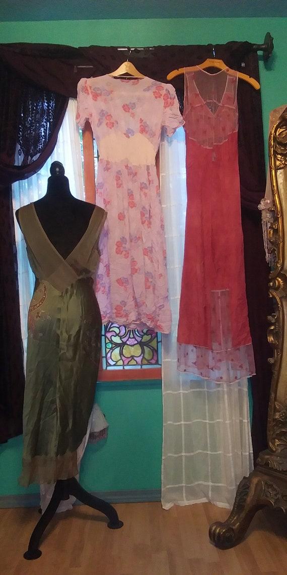 Lot of #3 vintage dresses Bohemian cottagecore gy… - image 2