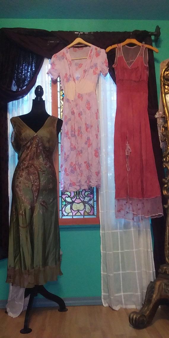 Lot of #3 vintage dresses Bohemian cottagecore gy… - image 1
