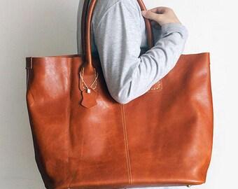 Genuine Leather Tote Bag Shoulder Handbag