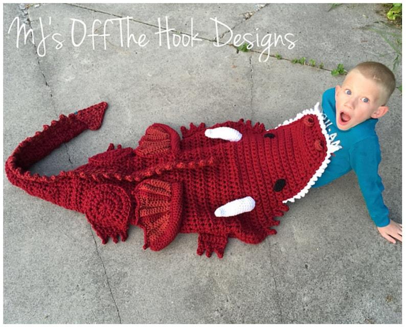 Dragon Blanket Crochet Pattern Crochet Pattern For Dragon Etsy