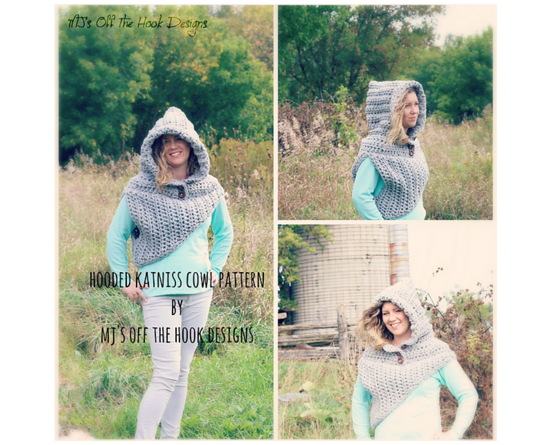 Hooded Katniss Cowl Crochet Pattern Hooded Cowl Crochet Etsy