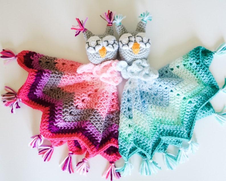 CROCHET PATTERN / Baby Owl Lovey image 0