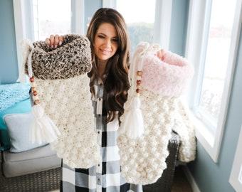 CROCHET PATTERN / Crochet Christmas Stocking Pattern