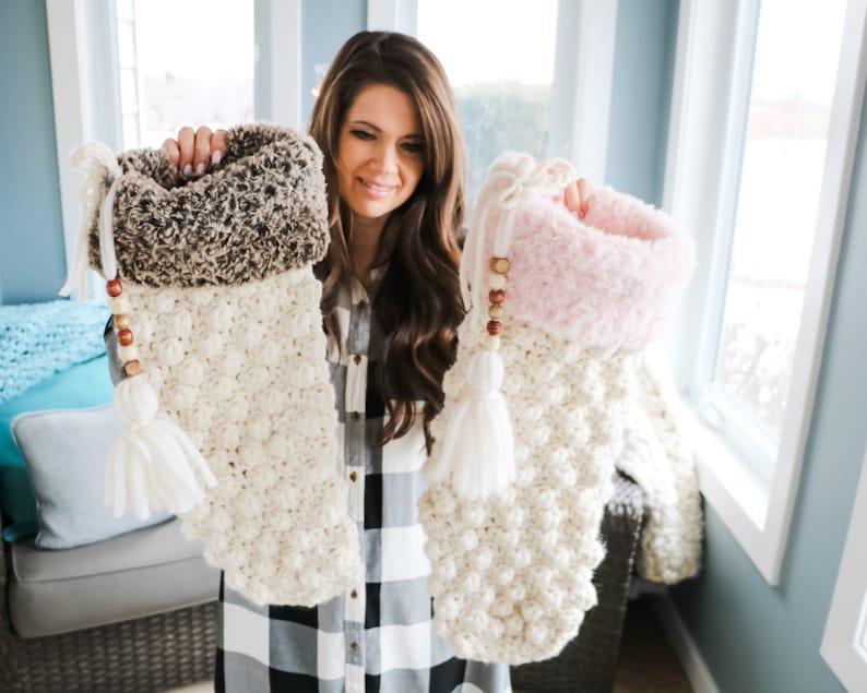 CROCHET PATTERN / Crochet Christmas Stocking Pattern image 0