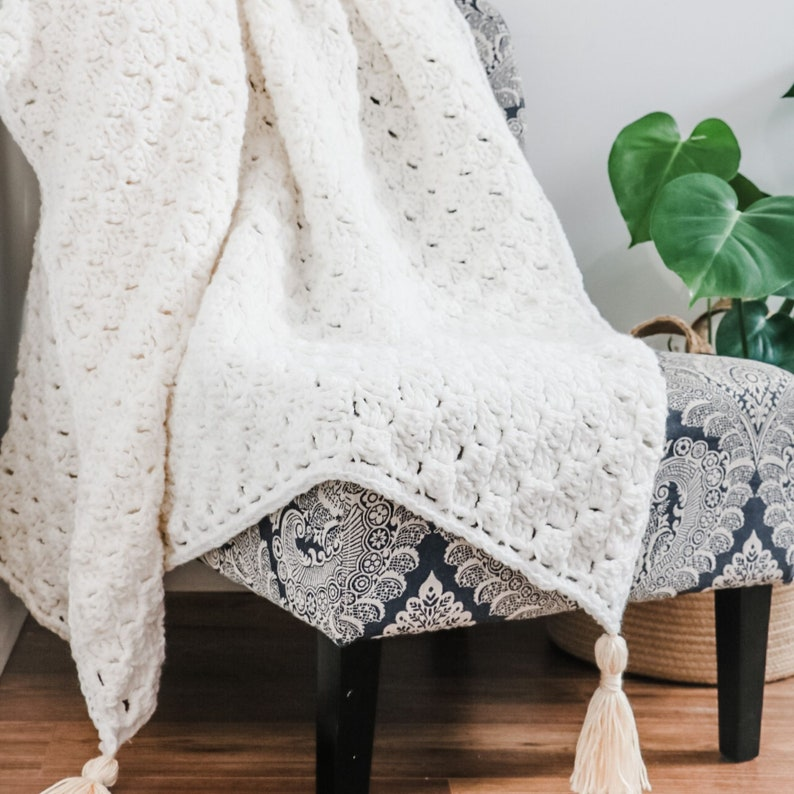 CROCHET PATTERN / Modern C2C Crochet Blanket image 0