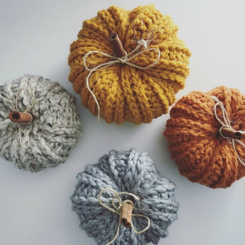 CROCHET PATTERN Bulky & Quick Rustic Farmhouse Pumpkin Pattern image 0