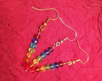 Chakra Earrings in Silver, Bronze, or Gold