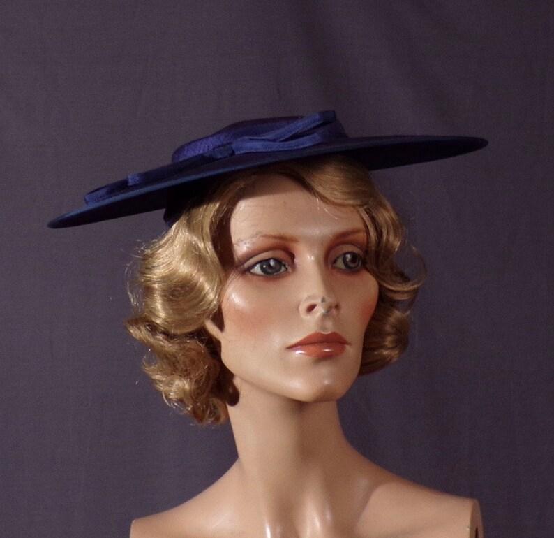 d56f835c8e3 Vintage 1950s Hat New Look Saucer Hat Mid-Century