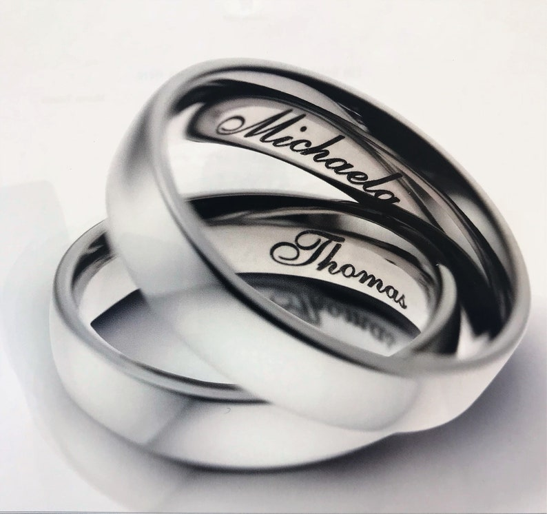 Wedding Band WeddingEngagement ring Free Engraving Ultra Comfort Fit 8mm Titanium Very light /& highly durable.