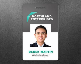 Commercial Custom Plastic Employee Photo ID Card Badges - Customized PVC Name Tags - Gift Cards - Promo Cards