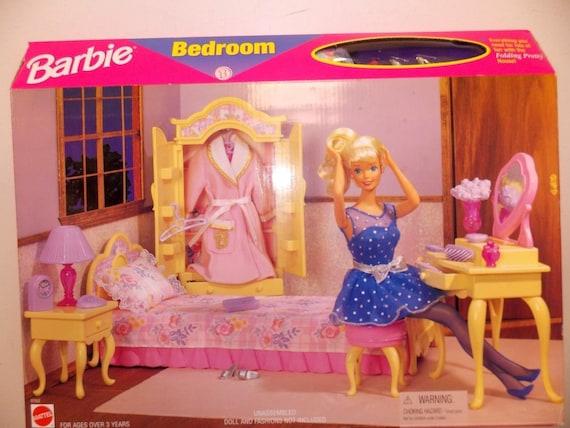 Vintage Barbie Falten hübsche Haus Schlafzimmer Spielset von | Etsy
