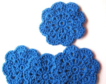 CROCHETED COTTON COASTERS