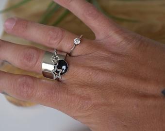 Star silver ring