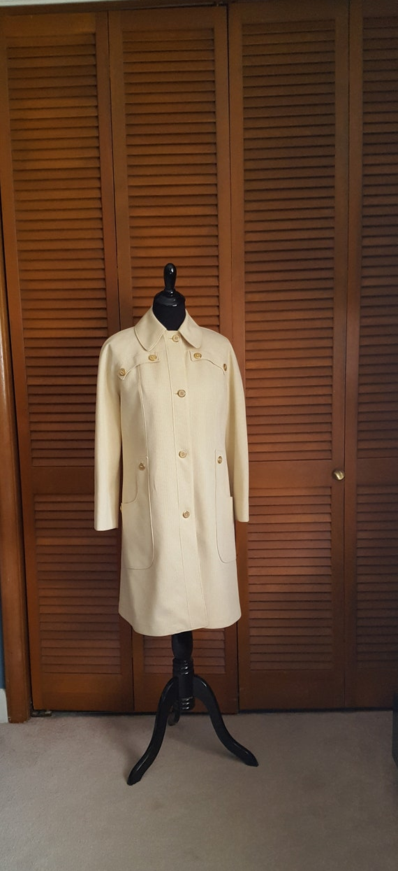 Vintage 1970s Misty Harbor Butter Yellow Rain Coat