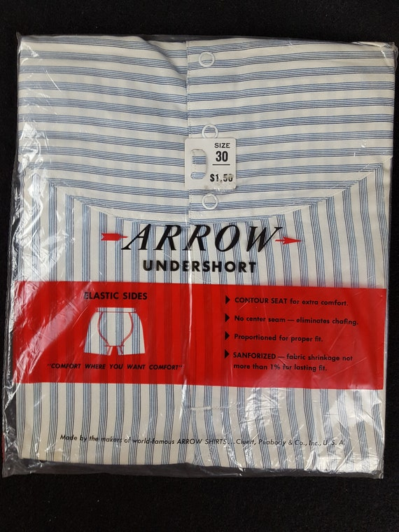 Vintage Mid-Century NOS Arrow Men's Snap Waist Und
