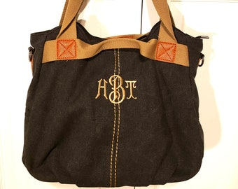 Monogrammed Canvas Hobo Bag c229bfbd8062c
