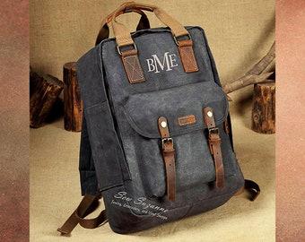 20cbd1a03e67 Monogrammed Canvas Laptop Backpack