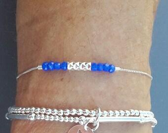 """""""NAEL"""" blue 925 sterling silver bracelet"""