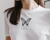Hate Has No Place Here Unisex Jersey Short Sleeve Tee | cottage core, mental health, wellness, growth, no hate, spread love, butterfly