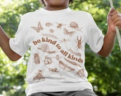 Youth Be Kind To All Kinds Kids Unisex Softstyle Tee | Entomology Shirt, Insect Lover Shirt,  Cottagecore Clothing, gender neutral