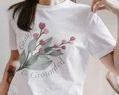 Grateful & Grounded Floral Unisex Jersey Short Sleeve Tee |  cottagecore aesthetic, vintage, floral, 90's Y2K, Retro aesthetic, botanical