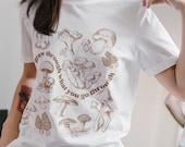 Grow Through Mushroom Unisex Jersey Short Sleeve Tee | Witchy shirt, cottage core, fungi, hippy, teacher shirt, teacher gift