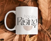Happy Rising Rainbow Ceramic Mug 11oz | MINDSET mug. Self care, Manifest, Affirmation, Wellness Mindset, Motivational Mug