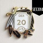 Seconds~ Dexterity enamel pin - Ability score pin - Hard enamel