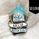Seconds~ Roll for Initiative enamel pin - Blue Flame - Hard enamel pin