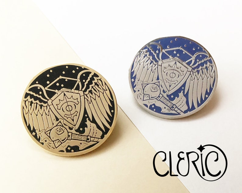 Class pins  Cleric  Hard enamel pin image 0