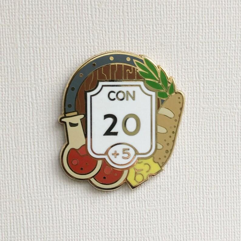 Constitution enamel pin  Ability score pin  Hard enamel image 0
