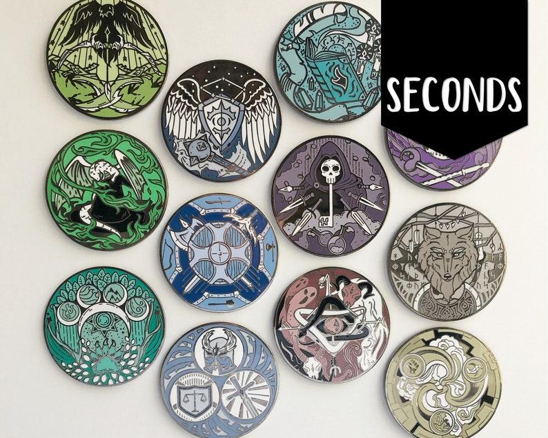 Seconds RPG Class Emblems  Hard enamel pins image 0